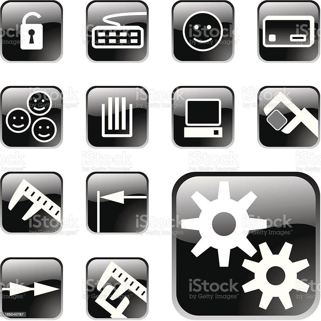 Website Aqua Icons 'Measurement Software' royalty-free stock vector art