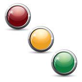 Website buttons. Glossy button set.