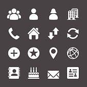 website contact icon set, vector eps10
