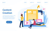 istock Website Content Creation concept for SEO 1221215431