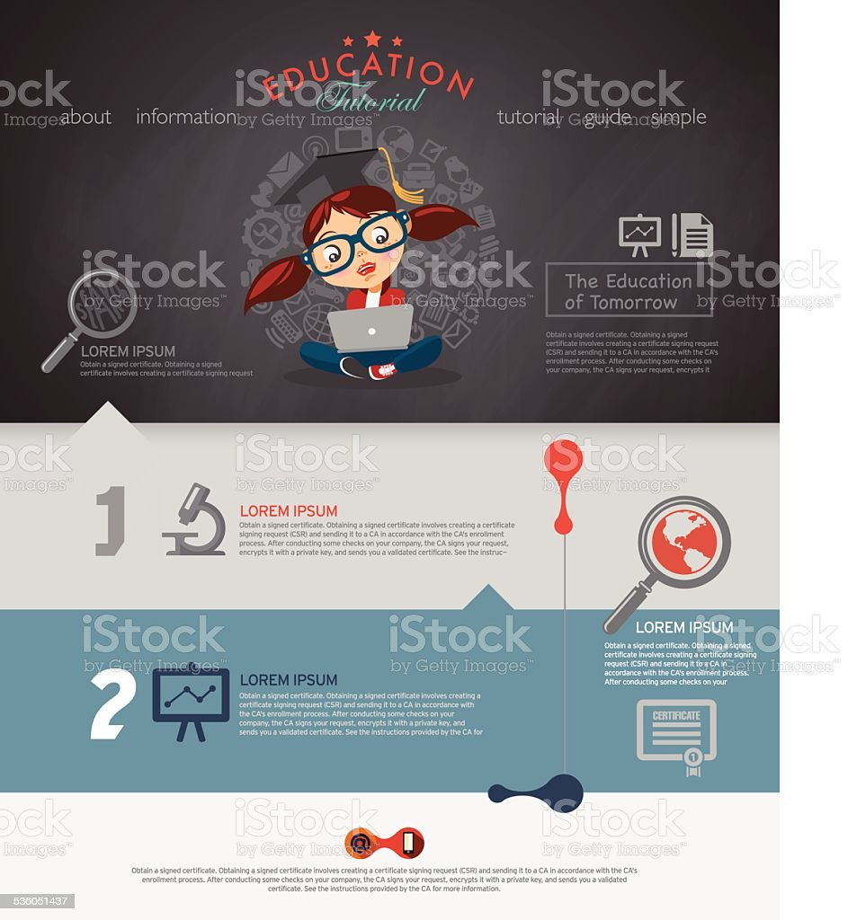 Website design and more made for schools and other institutions. vector art illustration