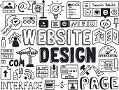 Website design doodle elements