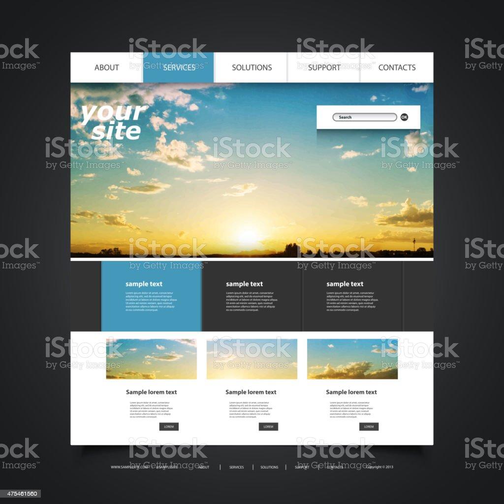 Websitedesignvorlagen Für Ihr Unternehmen Mit Sonnenuntergang ...