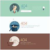 Website design template: Page not found, 404 error