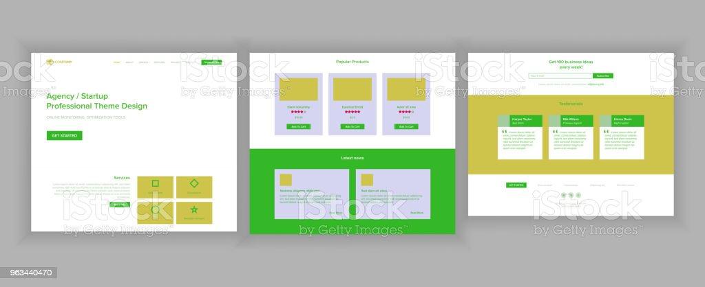 Web sitesi tasarım şablonu vektör. İş teknoloji. Açılış Web sayfası. Modern Online Servises. Promosyon ayarlar. Örnek marka. Örgütü atölye. İllüstrasyon - Royalty-free App Vector Art