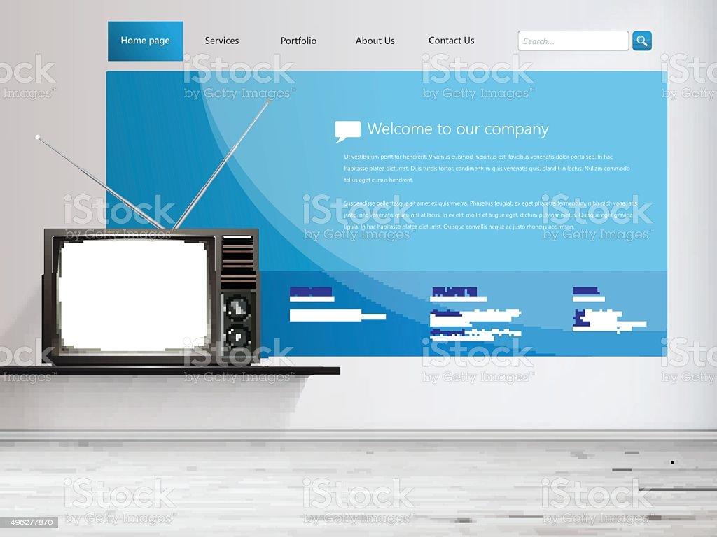Plantilla De Diseño De Sitio Web Illustracion Libre de Derechos ...