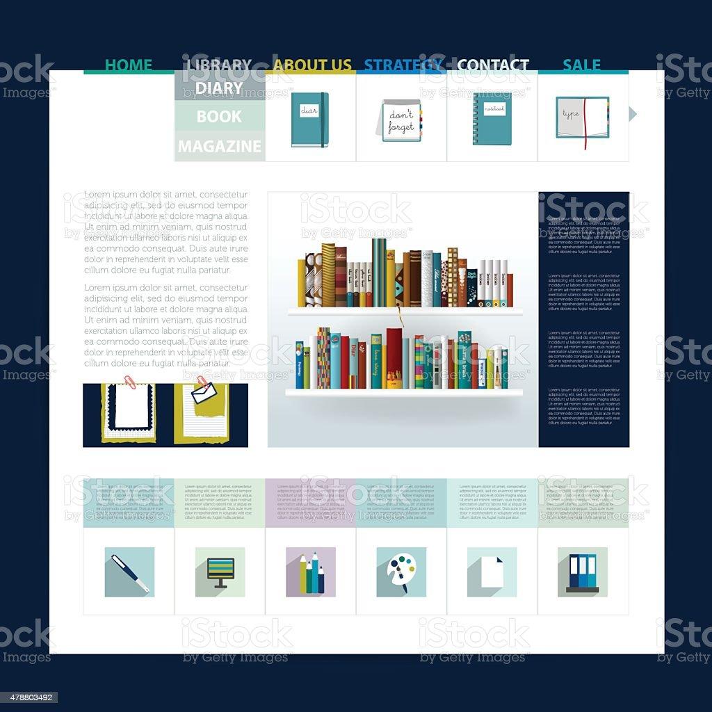 ウェブサイトのデザインテンプレートweb ページレイアウトになります