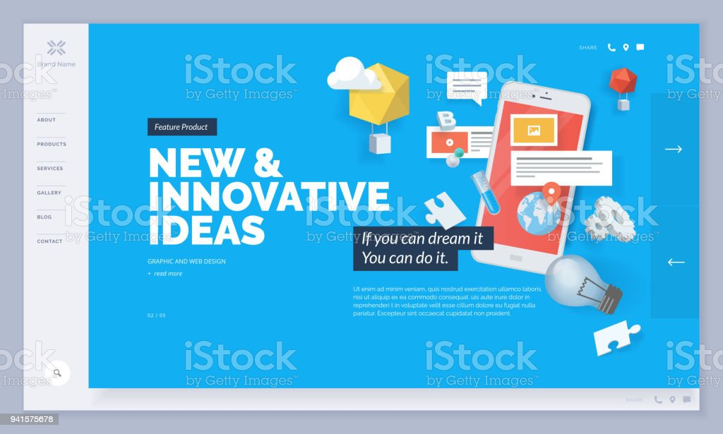 Website design vector art illustration