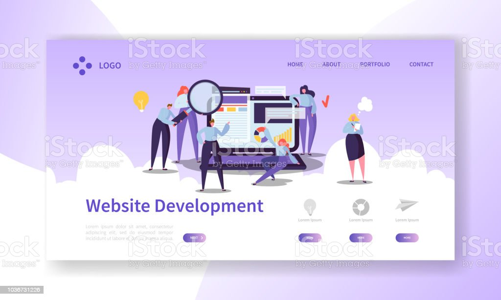 website development landing page template mobile application layout