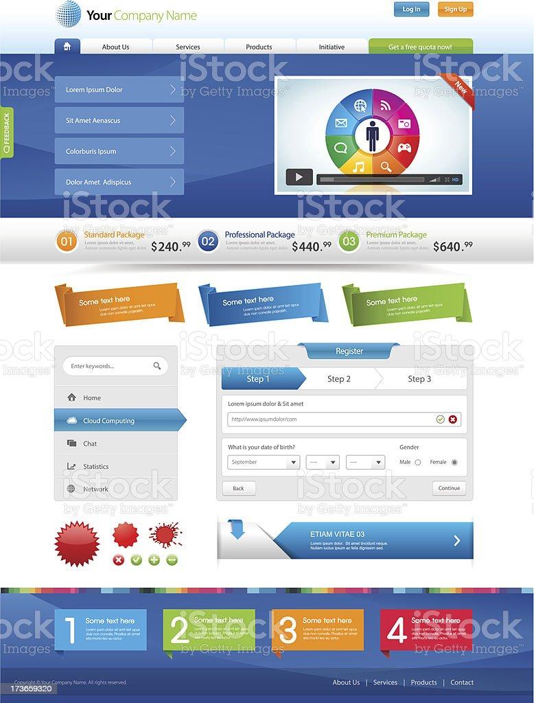 Website Elements royalty-free stock vector art