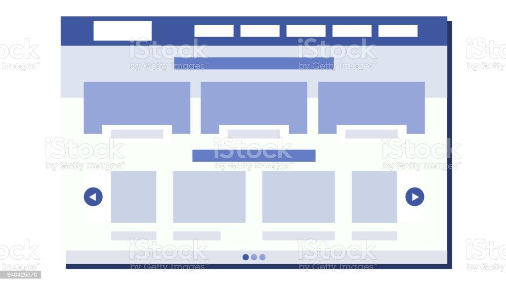 Website Flat Design Vector Site Webpage Web Page Design