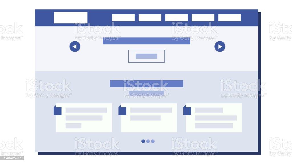 Websiteflaches Designvektor Webseitearchitektur Webseite Design ...