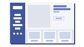 Website Flat Design Vector. UI Window. Sample Web Page Design. Illustration