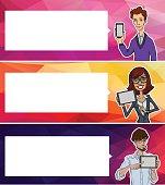 Website headers banners