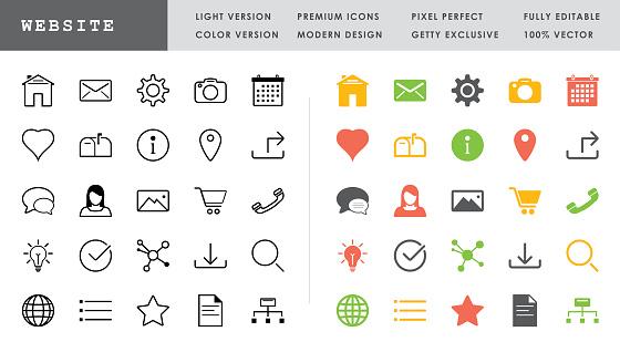 Website Icon Set - 50 Pixel Perfect Vector Icons