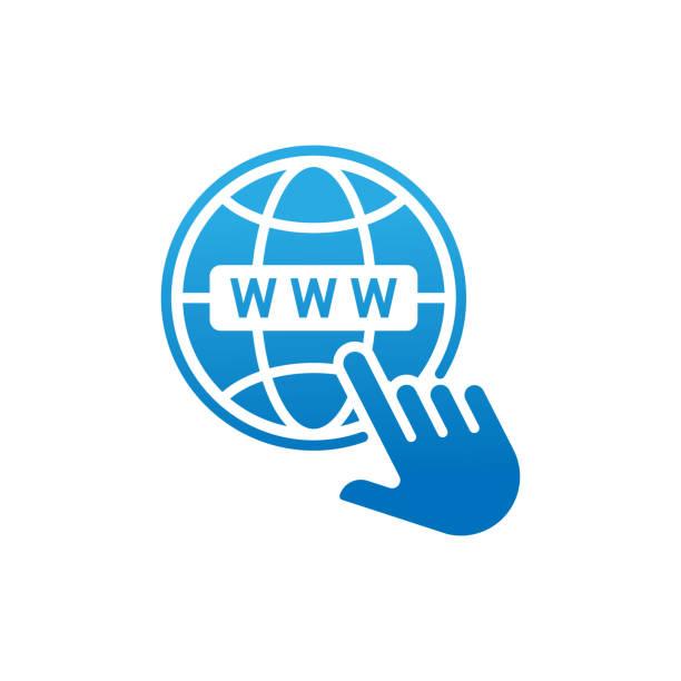 stockillustraties, clipart, cartoons en iconen met website-pictogram vector ontwerp illustratie. website www-pictogram. website vector flat icon symbool voor website, logo, grafische elementen, app, ui. - breed