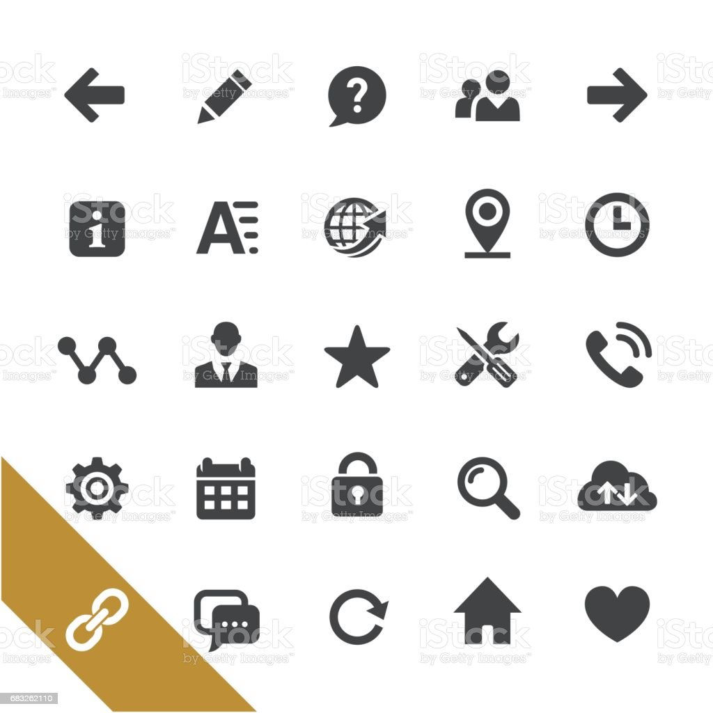 Website Icons - Select Series vector art illustration