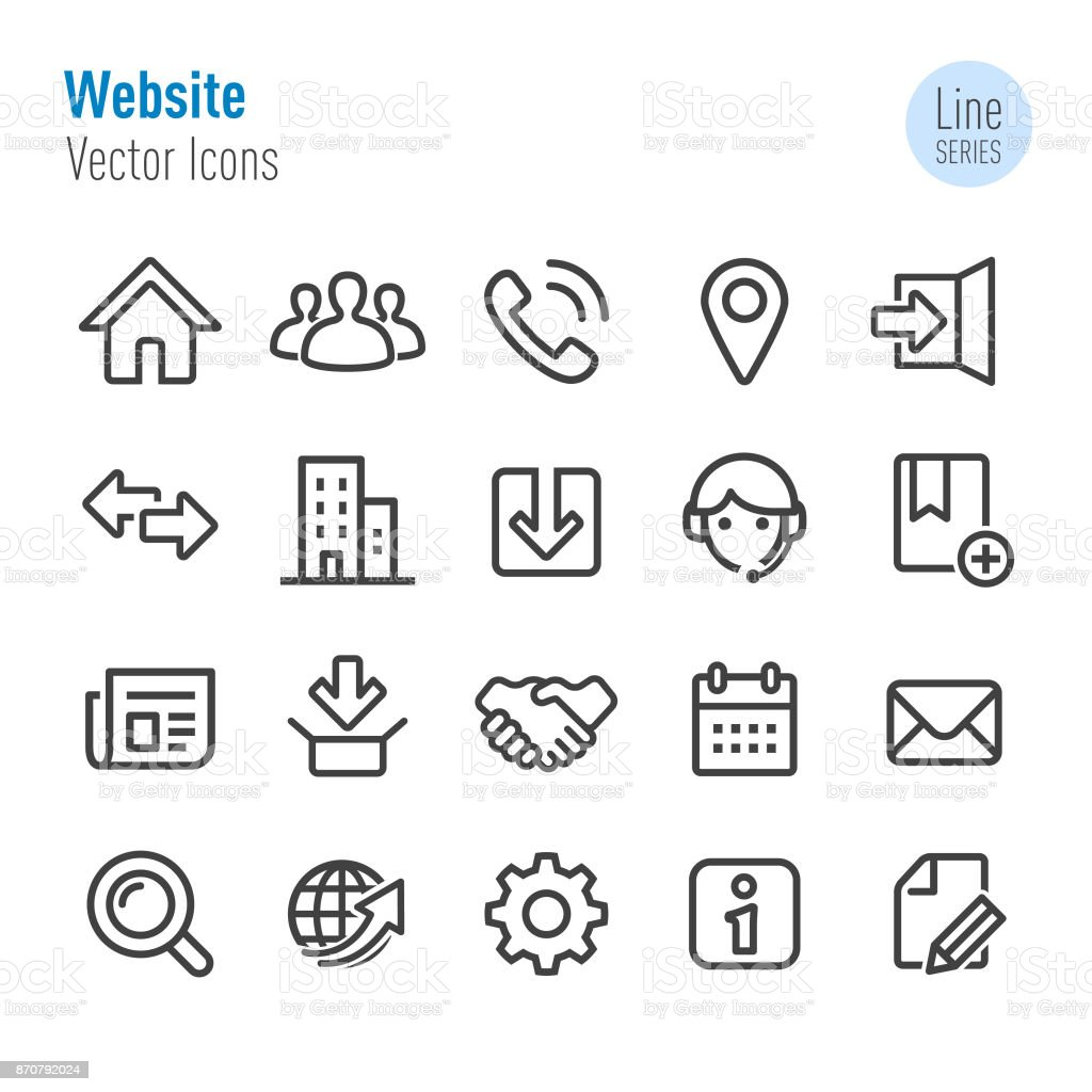 Website Icons - Vector Line Series vector art illustration