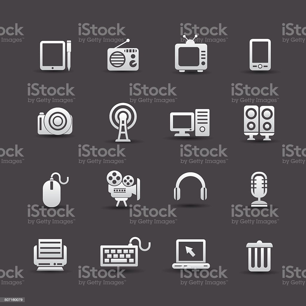 Website icons,Technology object,vector royalty-free stock vector art