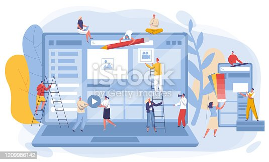 istock Website interface development concept, vector illustration 1209986142