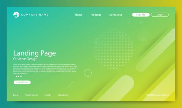 webseite, die zielseite, abstrakten hintergrund, gradient muster und modernen stil - zeitschrift grafiken stock-grafiken, -clipart, -cartoons und -symbole