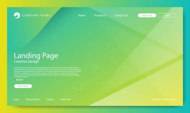 웹사이트 페이지, 추상적인 배경, 그라데이션 패턴 및 현대 스타일 - 가리기 stock illustrations