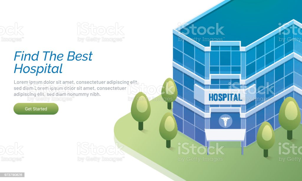 Website Landing Page Design With An Isometric View Of