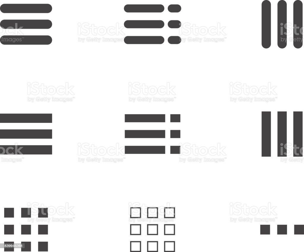 website menu hamburger icon vector art illustration