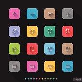 Website & Mobile Application Icons set # UI Elements