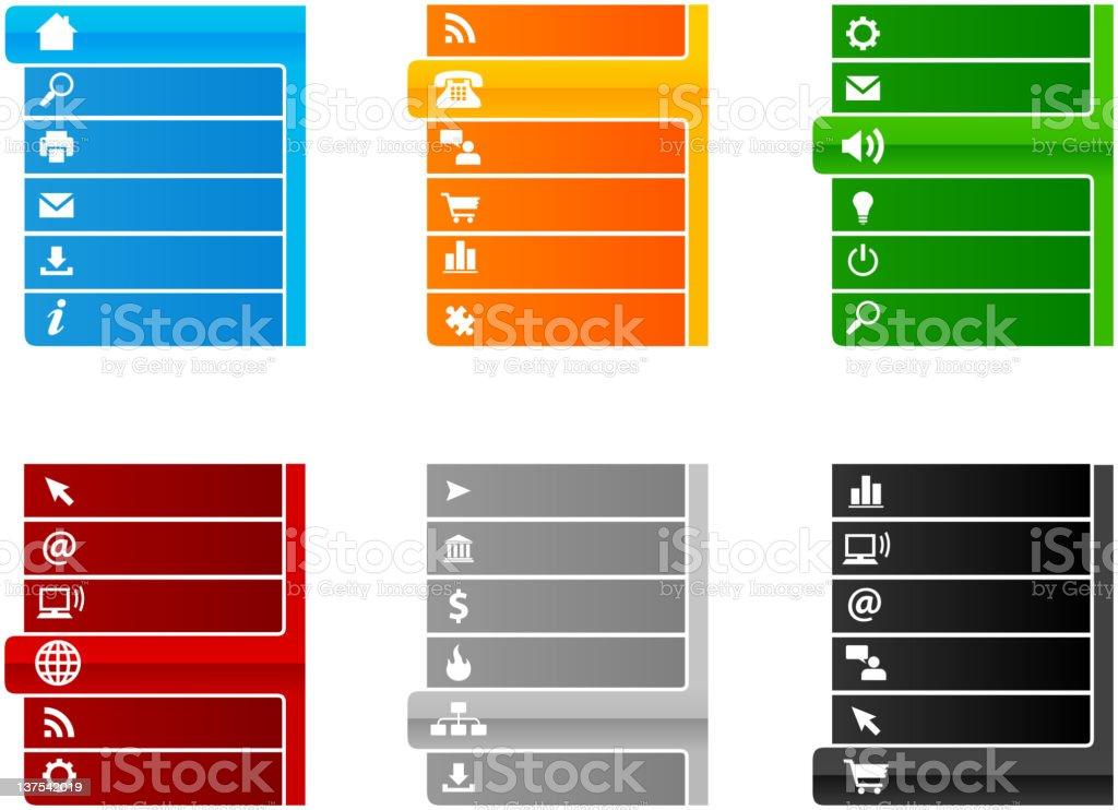 Website navigation tabs royalty-free stock vector art