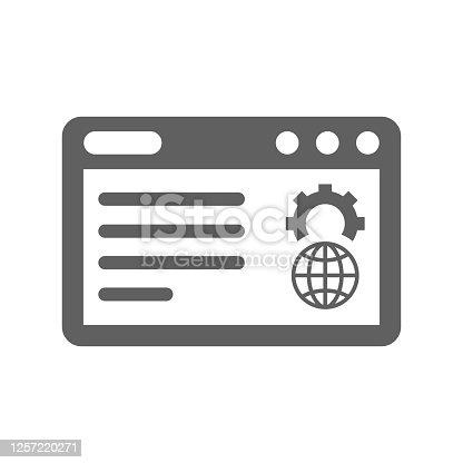 istock Website Optimization icon / gray color 1257220271