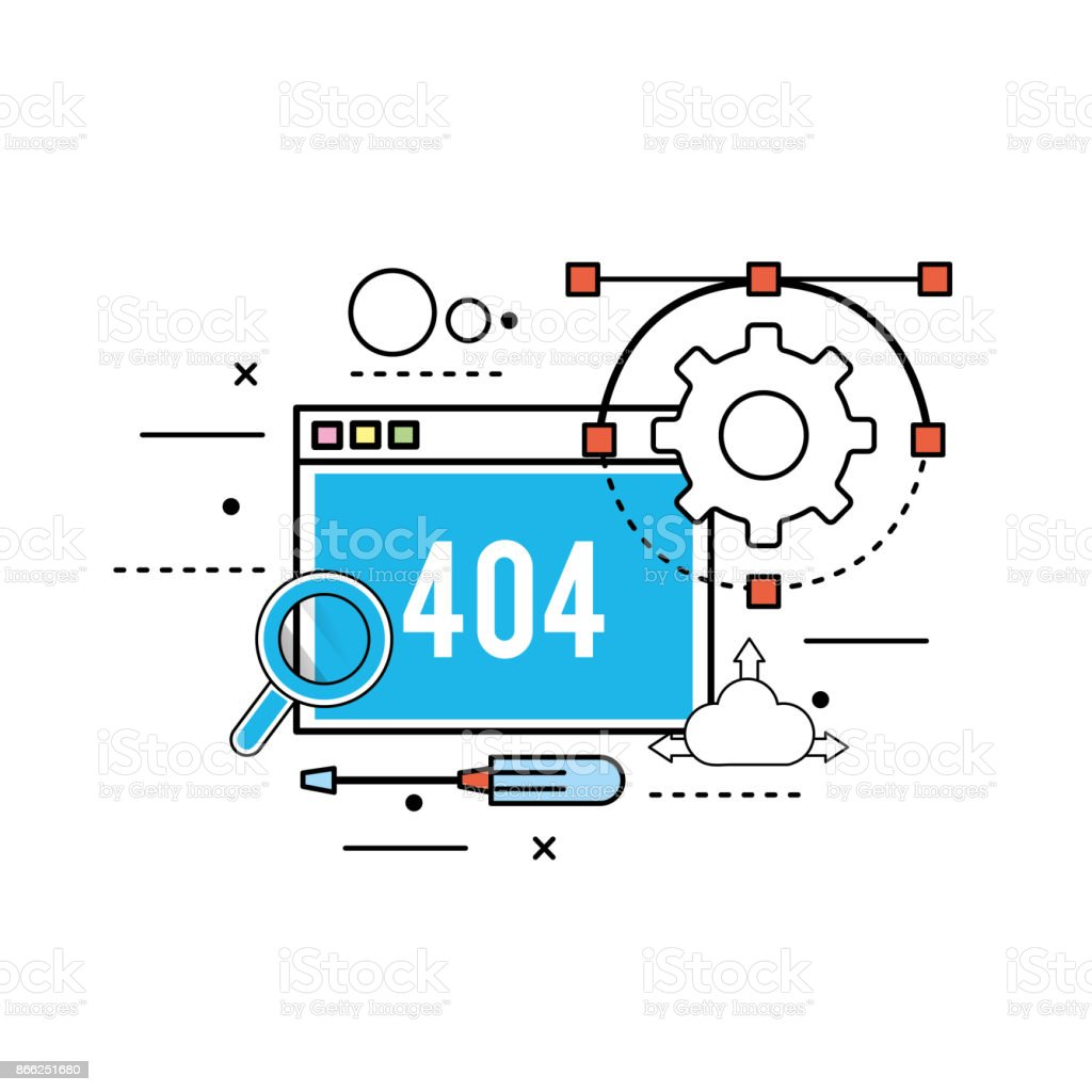website process information to programming technology vector art illustration