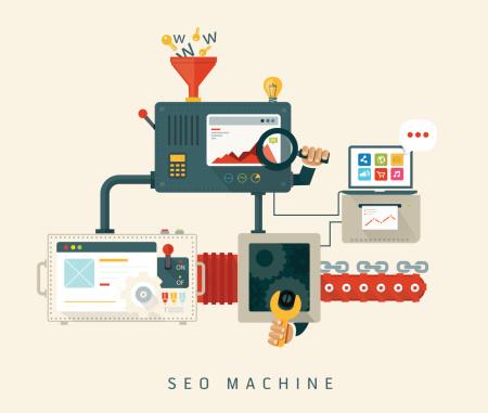 Website SEO machine, process of optimization.