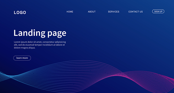 Website template design. Landing page Modern design for website. Vector illustration
