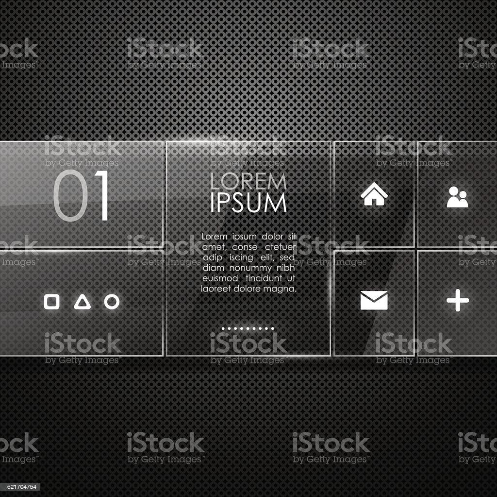 Website template design vector art illustration