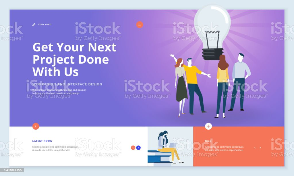 Website template design vector art illustration