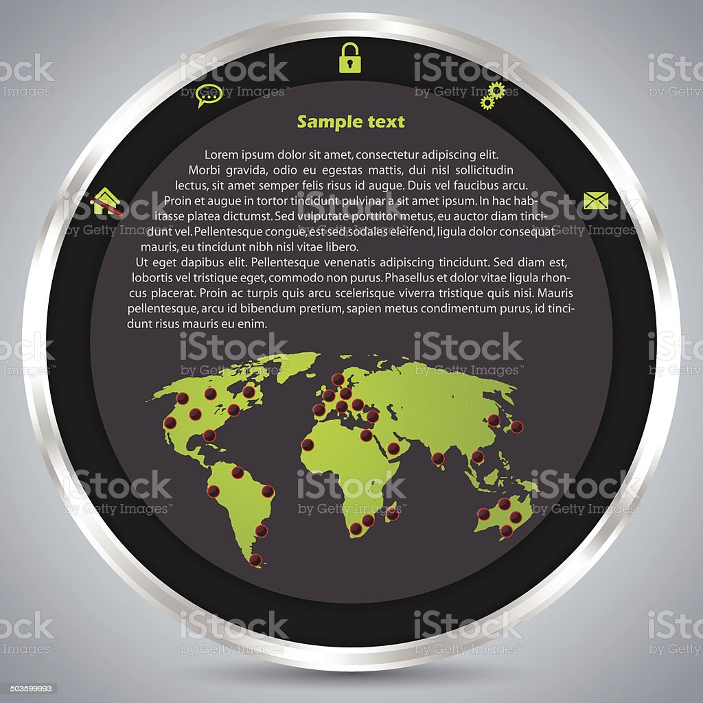 Website Template Design With Metallic Ring Stock Illustration Download Image Now Istock