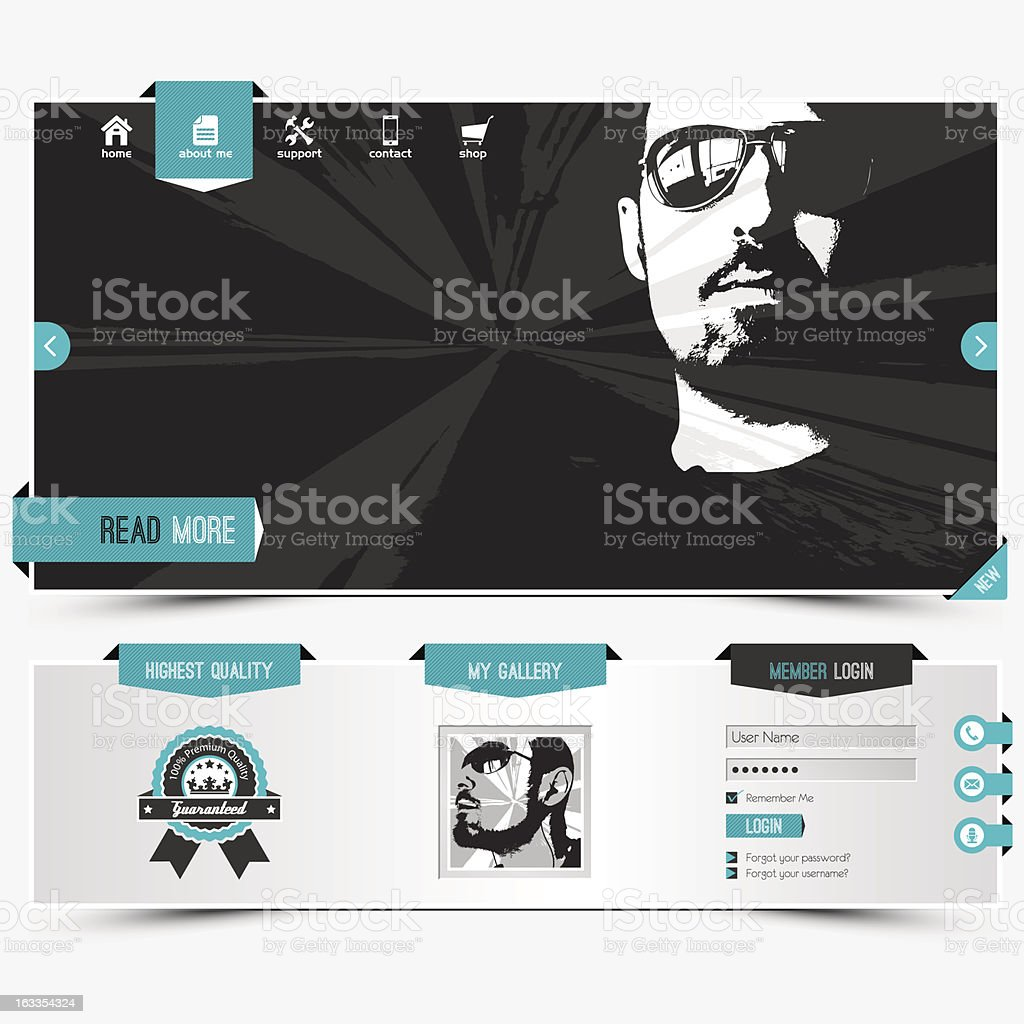 website template royalty-free website template stock vector art & more images of adult