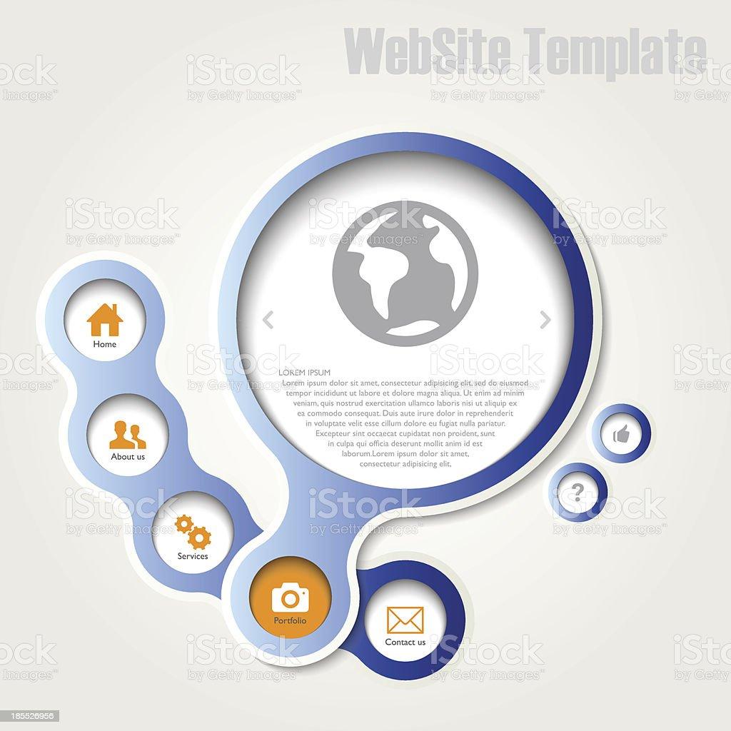 Website template royalty-free stock vector art