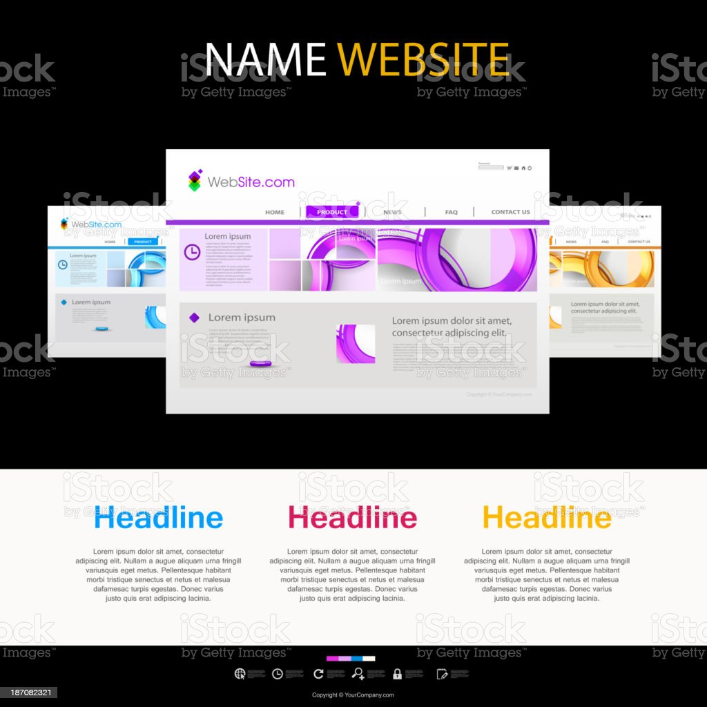 website template royalty-free website template stock vector art & more images of backgrounds