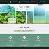 Natrue, City Life, Eco, Sustainable Development - Modern Colorful Abstract Web Site Creative Design Template Layout  - Illustration for Your Business or Personal Blog - Freely Scalable and Editable Vector Format Included