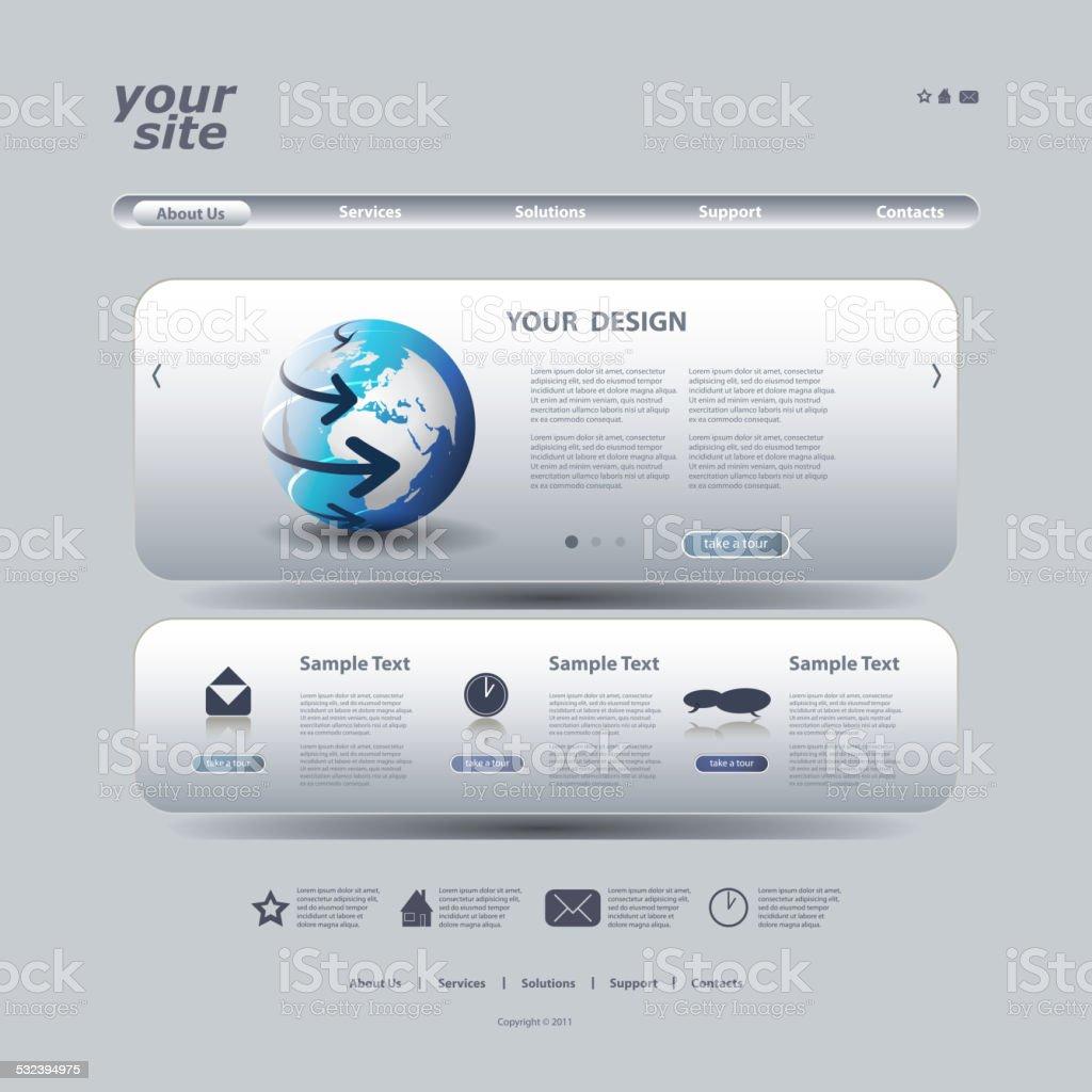 Ilustración de Plantilla De Sitio Web y más banco de imágenes de ...