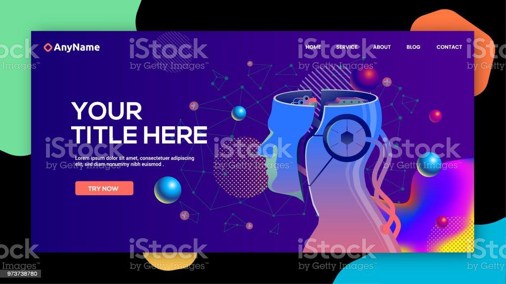 AI website template vector art illustration