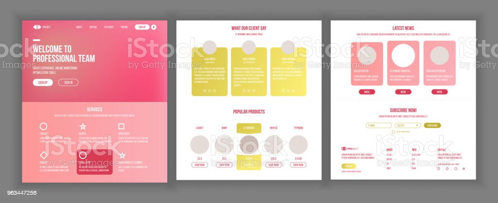 website template vector page business background landing web page