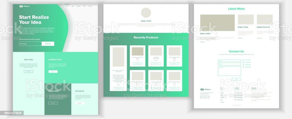 Web sitesi şablonu vektör. Sayfa iş geçmişi. Açılış Web sayfası. Web tasarım ve geliştirme. Nakit sözleşme. İş başarı. Para planlama. İllüstrasyon - Royalty-free Arama Motoru Vector Art