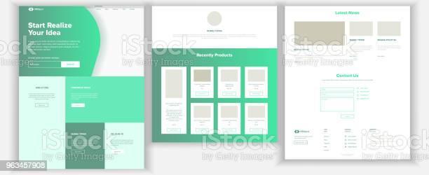 Ilustración de Vector De Plantilla De Página Web Página Fondo De Negocios Página De Inicio Del Web Diseño Y Desarrollo Web Contrato De Dinero En Efectivo Éxito En Los Negocios Planificación De Dinero Ilustración y más Vectores Libres de Derechos de Dinero