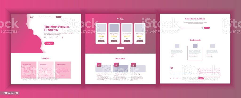 Web sitesi şablonu vektör. Sayfa iş açılış. Web sayfası. Duyarlı tasarım arayüzü. Beyin fırtınası iletişim. Finans Servisi. Mühendislik büyüme. İllüstrasyon - Royalty-free Beyaz Rusya Vector Art