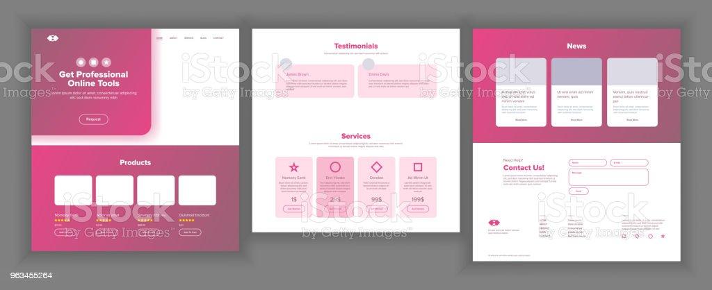 Web sitesi şablonu vektör. Sayfa iş projesi. Açılış Web sayfası. Çevrimiçi teknik destek. Tasarım evrim sistemi. Duyarlı boş. Finans Servisi. İllüstrasyon - Royalty-free Anlaşma Vector Art