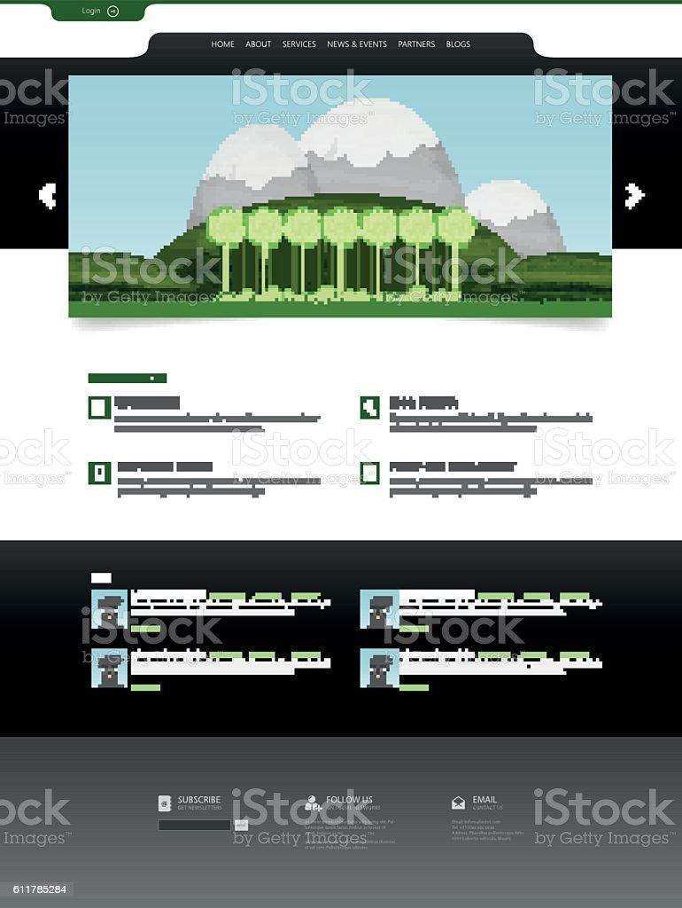 website template vector with header design htmlのベクターアート