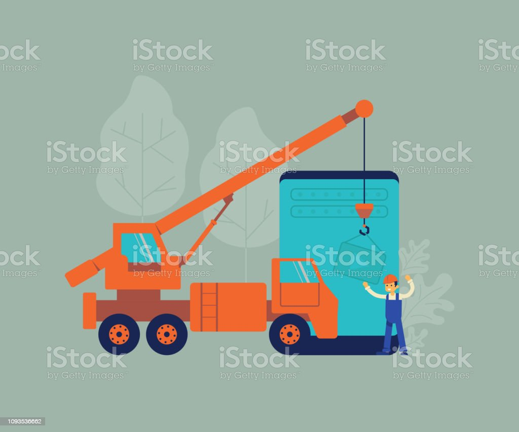 Website Under Construction And Development Concept Background Stock Illustration Download Image Now Istock